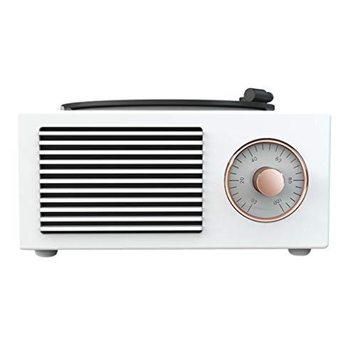 #N/A Mini Tragbare Retro Gramophone Bluetooth Lautsprecher Plattenspieler Plattenspieler Multi-Funktion Bluetooth Audio Wireless - Weiß