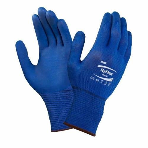 HyFlex Ansell 11-818 / 7 Mehrzweckhandschuhe, Mechanikschutz, Größe 7, Blau (12 Paar pro Beutel)