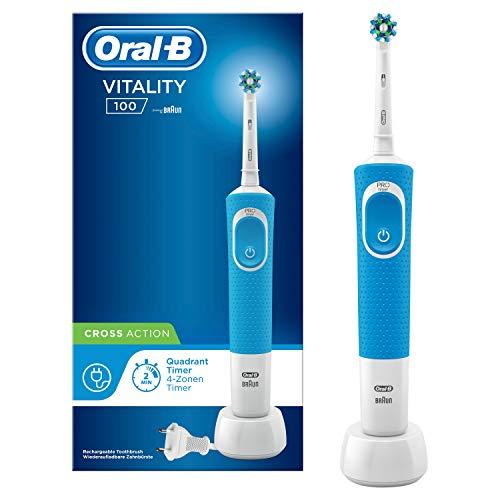 Oral-B Vitality 100 Cross Action Elektrische Zahnbürste, blau