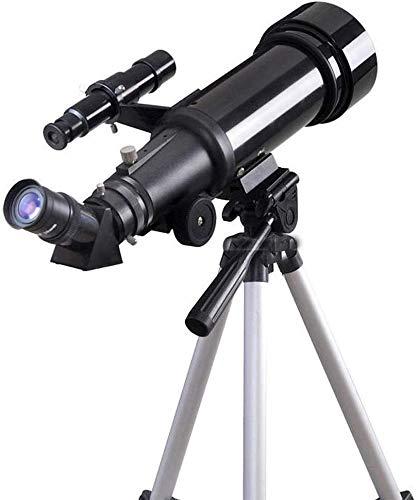RTOPW Telescopio Terrestre Viaje Alcance Telescopio astronómico Refractor monocular Viaje Alcance Elescope (Color: Negro, tamaño: M) (Color : Black)