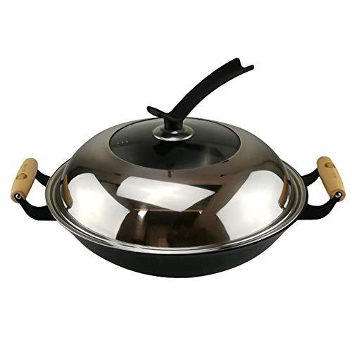 Casseruola Con Coperchio - Fornello Per Arrostire Forno Olandese Antiaderente In Ceramica In Ghisa E Gas,32cm