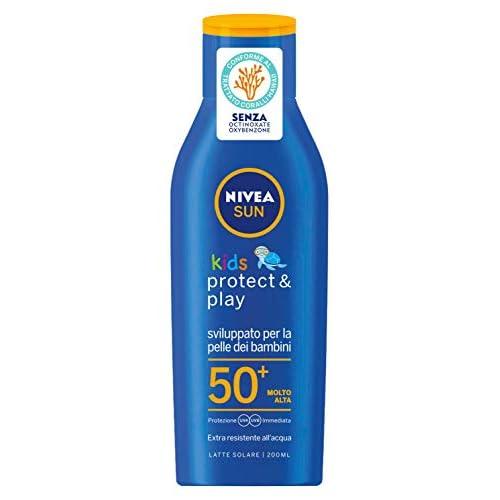 Nivea Sun Kids Latte Solare Protettivo FP50+ per Bambini, Protezione Molto Alta - 200 ml