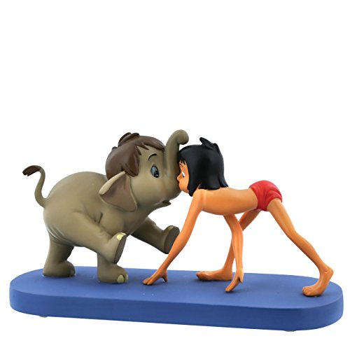 Enchanting Disney Jungle Patrol-Hathi Jr. & Mowgli Figurine, Resin, Multicolour, 10 x 6 x 5 cm