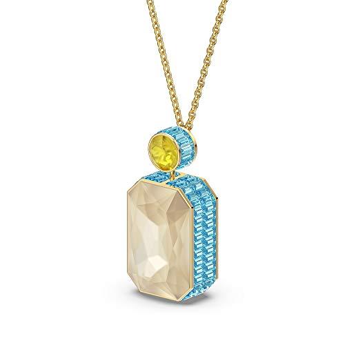 Swarovski Collar Orbita, Cristal de talla octogonal, Multicolor, Baño tono oro