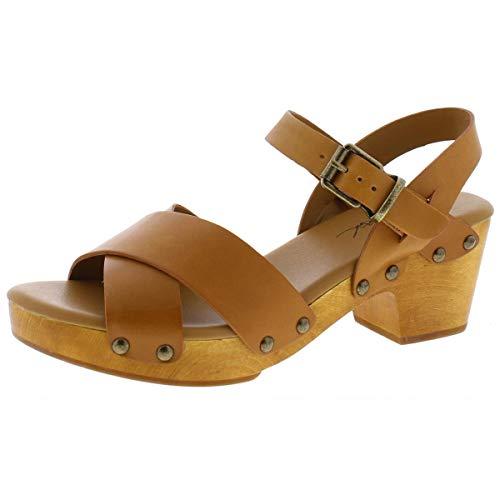 Patricia Nash Womens Gigi Leather Embellished Clogs Tan 8 Medium (B,M)