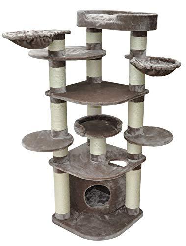 nanook Gigant Deluxe - Kratzbaum groß, Premium Katzenbaum für große und schwere Katzen (Maine Coon, Ragdoll), stabil & standfest, 15 cm Ø Kratzstamm