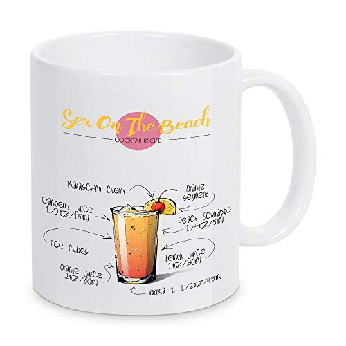 artboxONE Tasse Cocktail Sex On The Beach von Arman Akopyan - Kaffeetasse Essen & Trinken