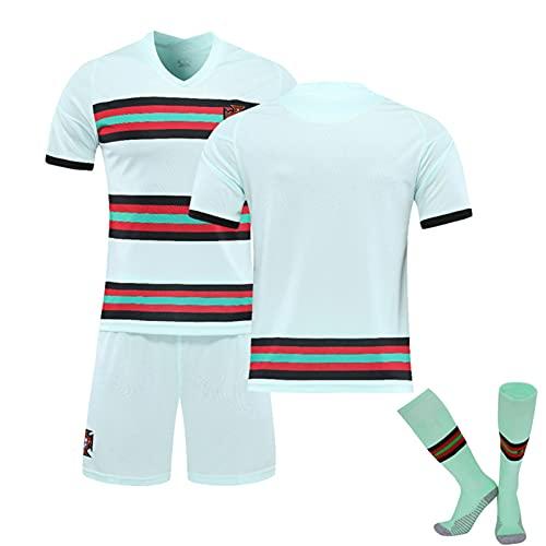 YQY 2021 Portugal Camisetas de fútbol Jerseys de fútbol de Distancia No. 7 Cristiano Ronaldo Jersey Adultos Kit de fútbol para niños Traje de Entrenamiento,C,L#