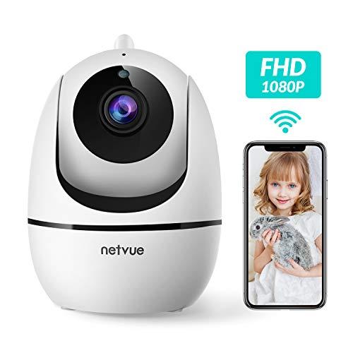 Netvue WLAN IP Kamera Indoor 1080P Innen Überwachungskamera für Baby, Ältere, Haustiere Monitor Haus Kamera mit Bewegungserkennung, Zwei-Wege-Audio, Nachtsicht