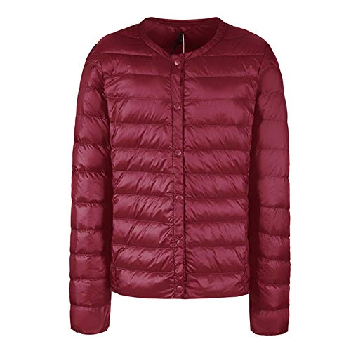Verpakbare Down Jacket Vrouwen Ultra Lichtgewicht Korte Winter Puffer Jas met Draagtas S-XXXL