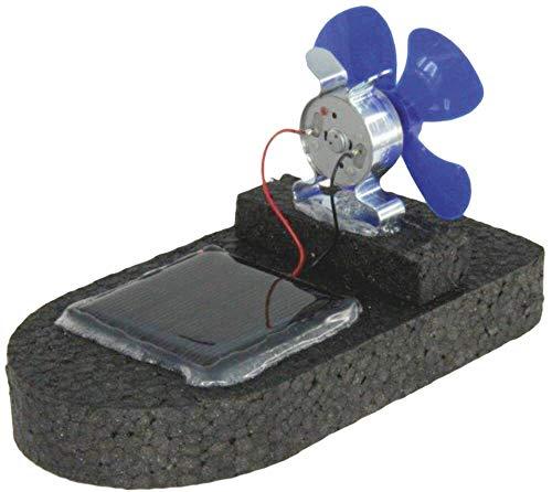 matches21 Solar Boot Modell mit Luftpropeller und Solarzelle Elektroantrieb Bausatz Bastelset für Kinder ab 10 Jahre