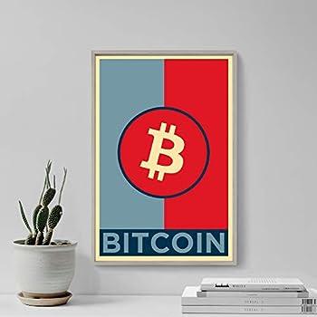 Celebrity Art Poster Bitcoin Original Art Print 2 - Poster Photo Gift Wall Home Decor - BTC Crypto Cryptocurrency Altcoins Bit Coin Libertarian