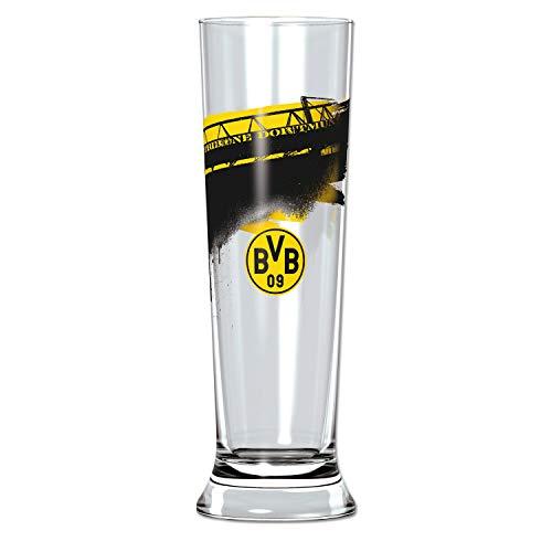 Borussia Dortmund, BVB-Pilsglas mit Südtribüne (0,3l), Schwarz / Gelb, 0