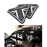 Motorcycle Fuel tank 3D Badge Emblem Sticker Logo Brand Decal for Triumph Bonneville Bobber T100 T120 (Sliver)