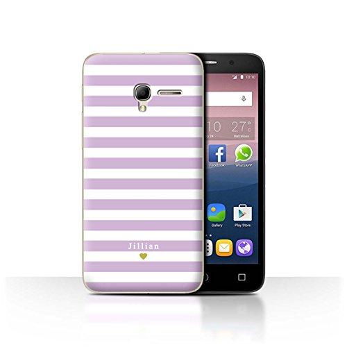 Stuff4Phone Case/Cover/Skin/alcpop35/Custom Stripes/Striped Collection Bébé Coeur Rose