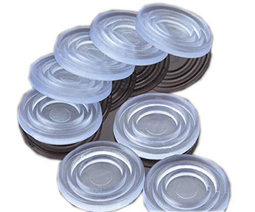 Tischplatte aus klarem Glas, weiches Material, zur Steuerung der Bewegung der Tischplatte aus Glas. Kunststoffstoßstange für Tischgummipuffer, Glastischsauger (2 * 24mm), 25Count.
