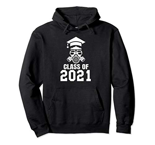 Class of 2021 Quarantined Seniors Gas Mask Pullover Hoodie