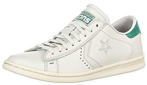 Converse PRO Leather Lp Ox, Sneaker a Collo Basso Uomo, Bianco (White Dust/B.Green), 43 EU