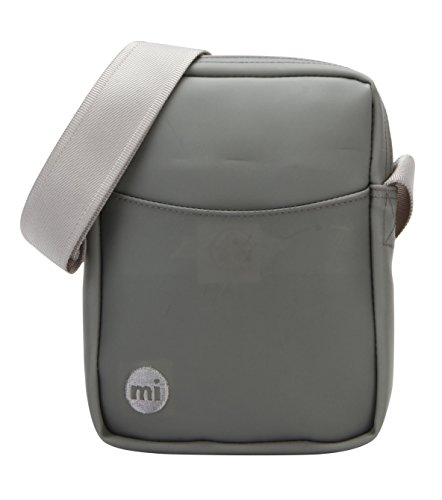 Mi-Pac Gold Flight Bag Bolso Bandolera, 21 cm, 1.7 litros, Rubber Grey