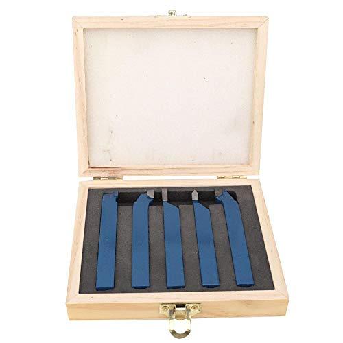 Set utensili per tornio 5pezzi, utensili per tornitura con testa saldatura metallo duro Assemblaggio utensili macchine utensili Inserti tornitura tornio industriale(16x16mm)