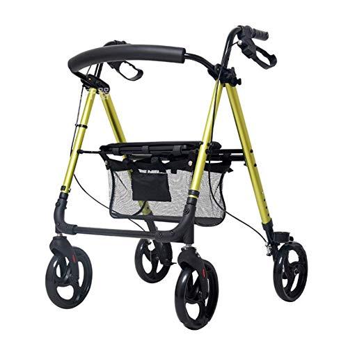 ZXL Senior Einkaufswagen Trolley Walker Travel Einkaufswagen kann Push kann sitzen Allrad Klapprollstuhl WD