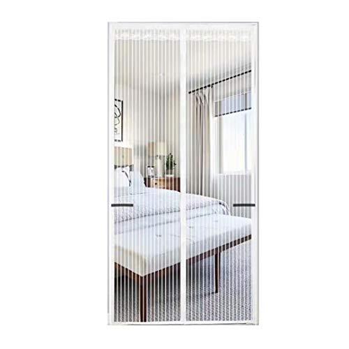 Mosquitera Puerta Magnetica Blanca 70x200cm Negro Cortina Mosquitera Magnética Para Puertas Fácil De Instalar Dejar Pasar El Aire Fresco, Evita Paso De Insectos