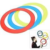 Demeras Juego de Anillos de Tiro de Mano de Juguete para Hacer Malabares, Juegos de Anillos de Tiro Multicolor para niños, Adultos, Actividades al Aire Libre en Interiores, 3 unids/Set