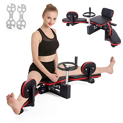 Heavy Duty Leg Stretcher with Wheel, Leg Stretching Training Squat Machine Leg Press Machine for Women Men Improve Flexibility, Home Gym Gear Fitness Equipment for Exercises Indoor Workout Fitness
