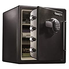Fireproof safe is UL Classified to endure 1 hour at 1700°F and keep interior temperatures safe for irreplaceable documents, valuables, DVDs, and USBs; ETL Verified to withstand a 15 foot fall during a fire and remain closed Waterproof safe is ETL Ver...