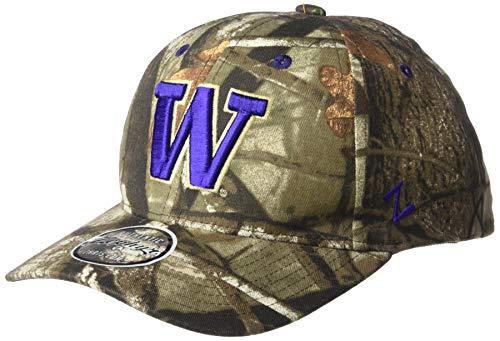 NCAA Zephyr Washington Huskies Mens Remington Hunting Camo Hat, Adjustable, Next Camo