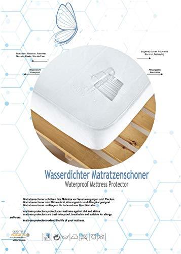 Doppelpack Wasserdichter Matratzenschoner 140x200 cm. Baumwolle Matratzenschutz mit Rundumgummi Steghöhe bis zu 28 cm, Atmungsaktive, Anti-Milben, Anti-Allergie Matratzenschutz, Matratzenbezug