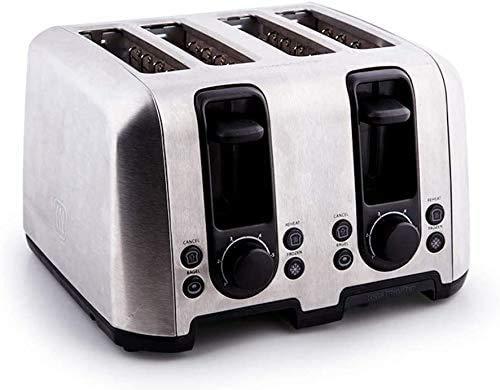 Dos Tostadora corte que mejor tostadoras con 7 Browning Ajustes rápidamente Tostadas de descongelación de recalentamiento botón Cancelar extraíble Bandeja de residuos, 4pieces lxhff (Tamaño: 4pieces)