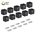 ONLINE LED STORE 10 Pack - 12V 30/40 Amp 5-Pin SPDT Bosch Style Electrical Relays