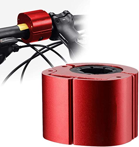 Soporte Móvil Bicicleta Estática, Soporte Invisible Universal para Teléfono de Bicicleta con Forma de Anillo Soporte Plegable de Aleación de Aluminio para Teléfono de Bicicleta (Rojo)