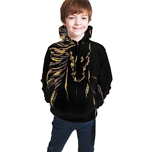 NiYoung Pullover Hooded Sweatshirts with Front Pocket, Drawstring Slim Fit Hoodie for Gym Training Date, Kids Image of an Horse Hoodies