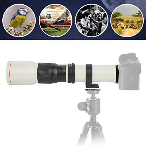 Mavis Laven Teleobiettivo della Fotocamera 500 mm F8-F32 Messa a Fuoco Manuale Teleobiettivo con focale Fissa per Fotocamera Nikon F Mount