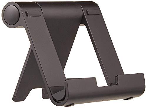 Amazon Basics - Soporte multiángulo portátil para tablets, e-readers y teléfonos - Negro