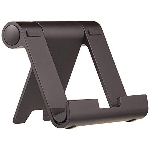 AmazonBasics - Supporto portatile inclinabile per tablet, lettori per e-book e telefoni, Nero
