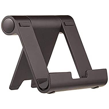 Amazon Basics Multi-Angle Portable Stand for iPad Tablet, E-reader and Phone – Black