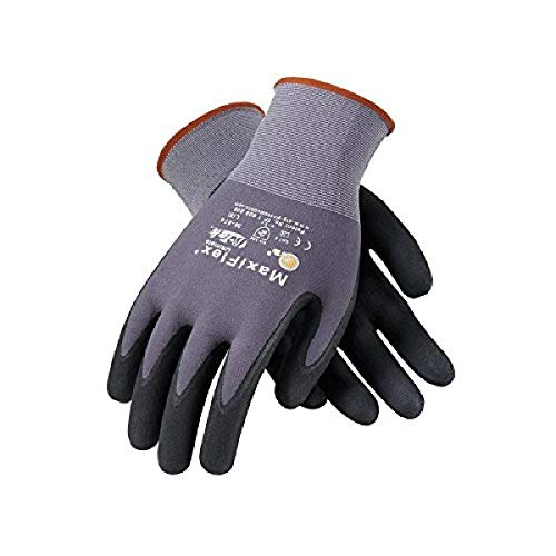 PIP 34-874/M Maxi Flex Ultimate 34874 Foam Nitrile Palm Coated Gloves, Gray, Medium (Pack of 12)
