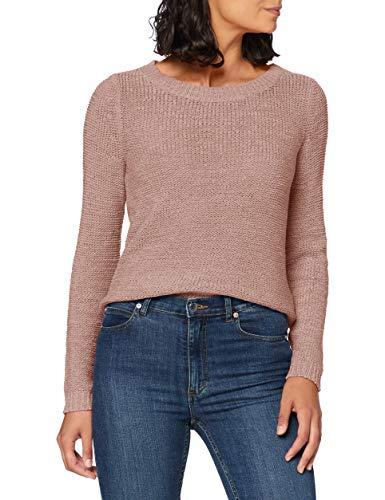 ONLY Damen onlGEENA XO L/S KNT NOOS Pullover, Rosa (Misty Rose Misty Rose), 38 (Herstellergröße: M)