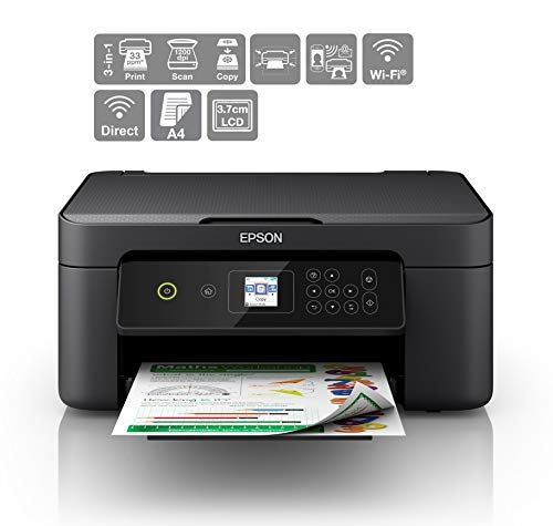 Epson Expression Home XP-3100 Print/Scan/Copy Wi-Fi Printer, Black
