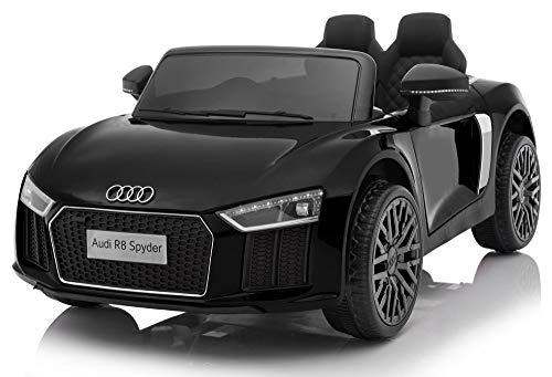 Giordano Shop - Coche eléctrico para niños 12V Audi R8Spyder negro