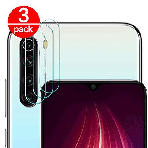 [3 Pack] Cristal Templado para Lente Cámara de Xiaomi Redmi Note 8/ Note 8T, Ultra Fino Protector 2.5D 9H de Dureza Cámara Trasera Lente Película de Pantalla