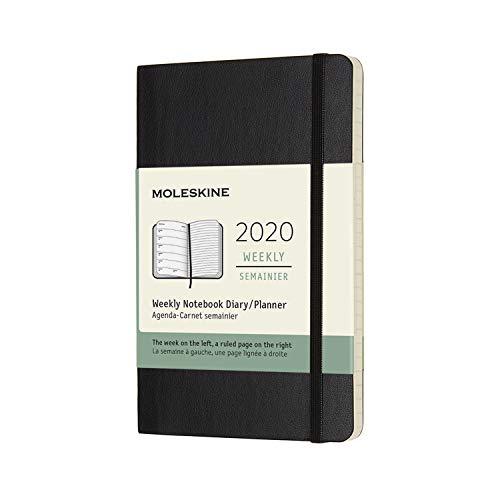 モレスキン 手帳 2020年 1月始まり 12ヶ月ウィークリーダイアリー ソフトカバー ポケットサイズ ブラック DSB12WN2Y20-e