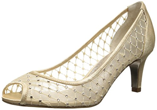Adrianna Papell Women's Jamie Dress Pump, Nude Saba Mesh, 9 M US