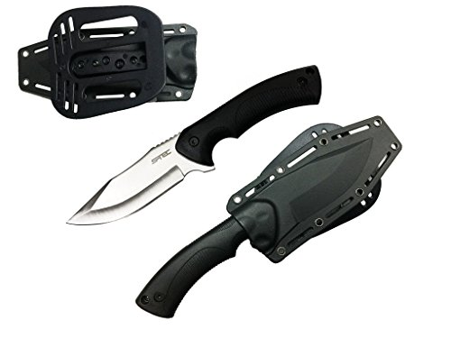 9' Full Tang Tactical Knife with ABS Plastic Sheath (Silver Tactical)