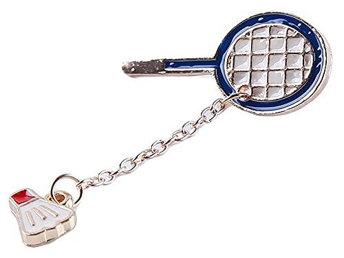Seupeak Persönlichkeit Pingpong Badminton Brosche Pins Kleidung Taschen Rucksäcke Jacke Abzeichen Zubehör für Frauen, Badminton Superior - Qualität und Kreativ