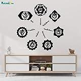 Tianpengyuanshuai Adesivo da Parete in Vinile Induismo Lotus Buddismo/Yoga Center Sticker Home Decor Living Room Art 80x81cm