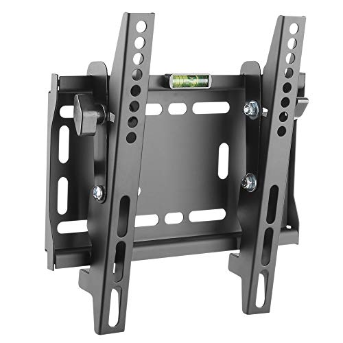 RICOO N4222, TV Wandhalterung, Neigbar Flach Fix, Universal 23-42 Zoll (58-107 cm), Fernseh-Halterung, Curved LCD LED Fernseher, VESA 200x200, Schwarz